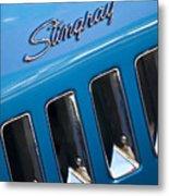 1969 Chevrolet Corvette Stingray Emblem Metal Print