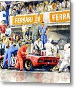 1969 Le Mans 24 Ferrari 312p Pedro Rodriguez  David Piper Metal Print