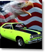 1969 Plymouth Road Runner Tribute Metal Print
