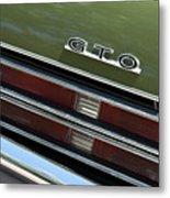 1969 Pontiac Gto Taillight Emblem Metal Print