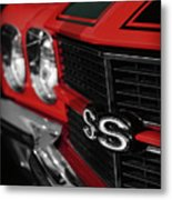1970 Chevelle Ss396 Ss 396 Red Metal Print