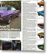1970 Dodge Challenger Metal Print
