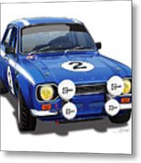 1970 Ford Escort Mexico Illustration Metal Print