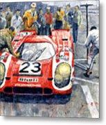 1970 Le Mans 24 Porsche917k Attwood Herrmann Winner  Metal Print