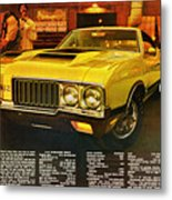 1970 Oldsmobile Cutlass 442 W-30 Metal Print