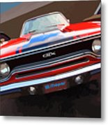 1970 Plymouth Gtx Vectorized Metal Print