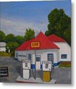 1970s Gas Station Metal Print