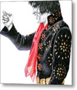 1971 Black Pinwheel Suit Metal Print