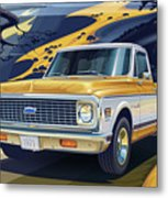 1971 Chevrolet C10 Cheyenne Fleetside 2wd Pickup Metal Print