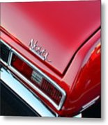 1971 Chevy Nova - Red Metal Print