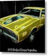 1971 Dodge Charger Superbee - Electric Metal Print