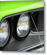 1971 Plymouth Barracuda Cuda Sublime Green Metal Print