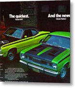 1971 Plymouth Duster 340 And Twister Metal Print