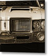 1972 Olds 442 - Sepia Metal Print
