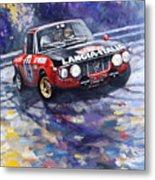 1972 Rallye Monte Carlo Lancia Fulvia 1600hf Munari Mannucci Winner Metal Print