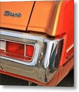 1973 Plymouth Scamp Tail Lights And Logo Metal Print