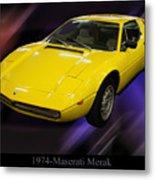 1974 Maserati Merak Metal Print