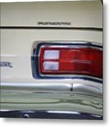 1974 Plymouth Duster Tail Light With Logos Metal Print