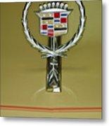 1976 Cadillac Eldorado Convertible Hood Ornament Metal Print