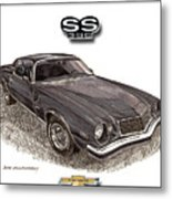 1976 Chevrolet Camato S S 396 Metal Print