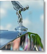 1976 Rolls  Royce Saloon Hood Ornament Metal Print