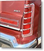 1977 Lincoln Continental Mark V With Tail Lights And Logo Metal Print