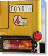 1978 Toyota Land Cruiser Fj40 Taillight Emblem -1191c Metal Print