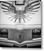 1979 Pontiac Trans Am Hood Firebird -0812bw Metal Print