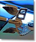 1980 Bentley Hood Ornament Metal Print by Jill Reger