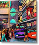 1984 Vision Of Times Square 2015 Metal Print