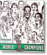 1986 Boston Celtics Championship Newspaper Poster Metal Print