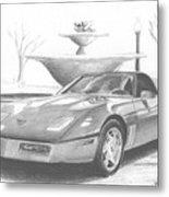 1989 Chevrolet Corvette Sports Car Art Print Metal Print