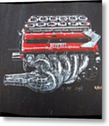 1990 Ferrari F1 Engine V12 Metal Print