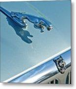 1995 Jaguar Xj6 Sedan Hood Ornament Metal Print by Jill Reger