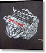 1996 Ferrari F1 V10 Engine Metal Print