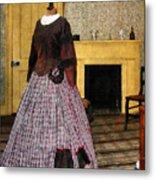 19th Century Plaid Dress Metal Print