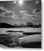 1m9203 Sunburst Over The Snake River, Tetons Metal Print