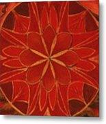 1st Mandala - Root Chakra Metal Print