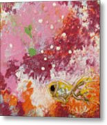 1 Gold Fish Metal Print
