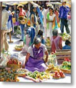 Saturday Market Metal Print