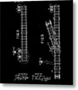 1875 Electric Railway Signal Patent Drawing Metal Print