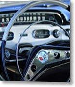1958 Chevrolet Impala Steering Wheel Metal Print