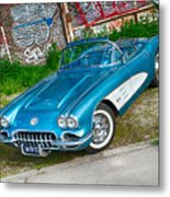 1959 Chevrolet Corvette Metal Print