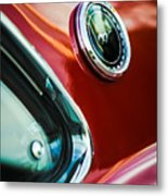 1969 Ford Mustang Mach 1 Emblem Metal Print by Jill Reger