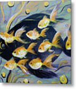 8 Gold Fish Metal Print