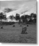 9 Ladies Stone Circle, Stanton Moor, Peak District National Park Metal Print