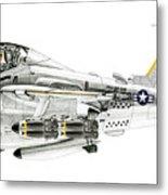 A-6e Intruder Caricature Metal Print
