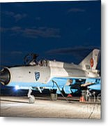 A Romanian Air Force Mig-21c Airplane Metal Print