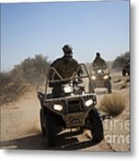A U.s. Soldier Performs Off-road Metal Print