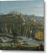A View Of The Waterfalls And The Villa Of Maecenas Metal Print